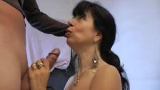 A brunette amateur mature big dick