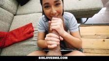 SisLovesMe- Helpful step sis finally helps me cum